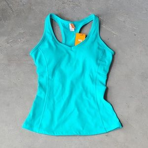 NWT Lucy Teal/Blue Fitted Athletic Tank small